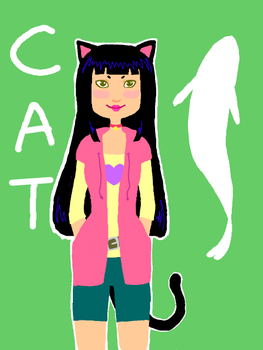 Cat-Girl -tegaki e- by tatsku