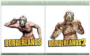 Borderlands and Borderlands 2 Icon Pack by Alexe-Arts
