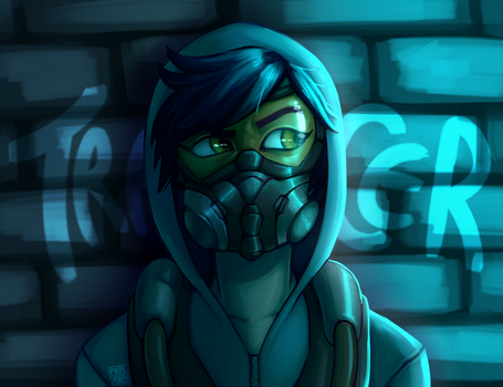 Graffiti Tracer by prpldragonart