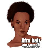 How I paint afro hair by tenemos-churros