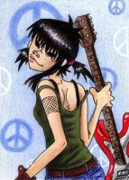 Adult Noodle- GoRiLLaZ Card 2. by Hoot-Chan