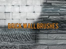 Brick Wall Brushes by xara24