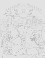 Glory Octavian Cover (uncoloured) by TwinSabreInferno