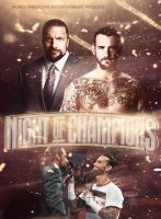 Triple H vs CM Punk Poster by thegame95