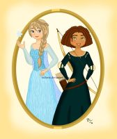 DreamWorks girls playing Disney by valloria