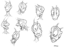 Roach model sheet by PReilly