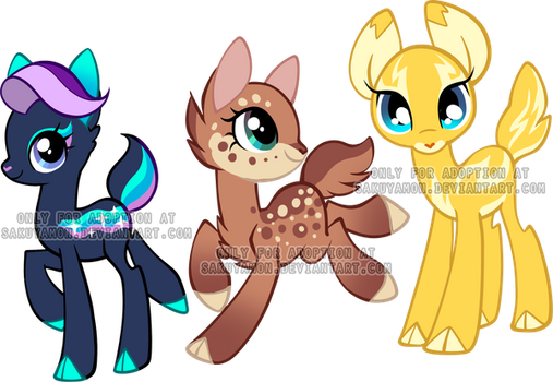 My little deer Adoptables3 by Sakuyamon