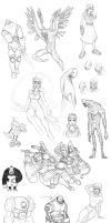 Character Sketches IV by MurderousAutomaton