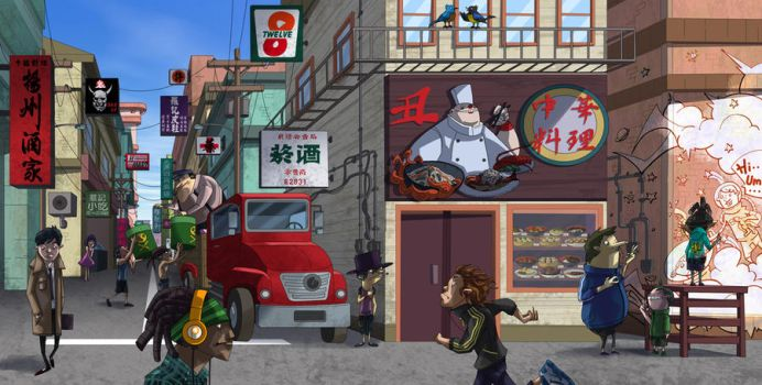 A usual day on the street by MaxHwang
