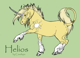 adult Helios Reference Sheet by CaveLupa