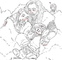 the Hobbit : a family by LadyNorthstar