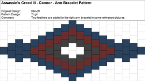 AC3 - Connor - Arm Bracelet Pattern by Trujin
