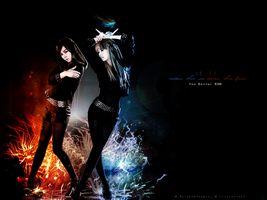 Fire and Ice - JeTi Wallpaper by Ying-Tao