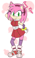 Amy Rose by P3RLITA