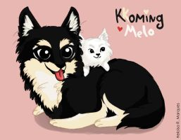 Kkoming and Melo by HannaS2