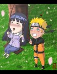 Commission Chibi - NaruHina by dannex009