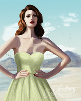 50s Woman In Summer by EvelinaLindqvist