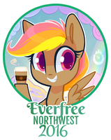 Mocha Sunrise Badge by Hollulu