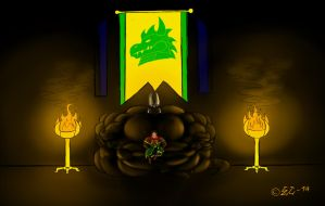 Throne Room of Dragon Protector by EmotionCreator