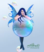 Amy Brown Bubble Rider with Fancy Fairy Wings by FaeryAzarelle