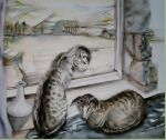 Oriental cats by TriciaS