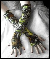 Ancestral Calling Arm Warmers by ZenAndCoffee