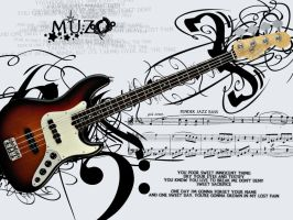 Fender Bass Wallpaper by muzoO