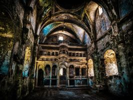 Abandoned Greek Orthodox Church at Kayakoy by M-Hutcheson