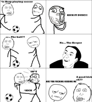 Herp plays soccer -Rage Comic- by Albowtross91