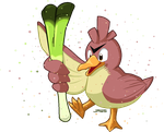 Shiny Farfetch'd by Willow-Pendragon