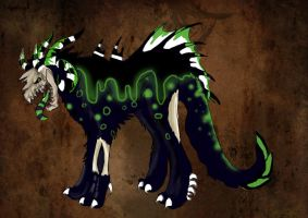 Noxious Hellhound: CLOSED by WaiftAdopts