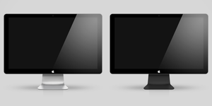 Led Cinema Display Black  and White by DemchaAV