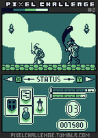 Pixel Challenge - Gameboy DS -  Dark souls mockup by renzus