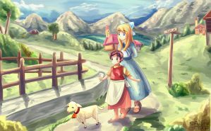 Heidi and Clara by AFD42