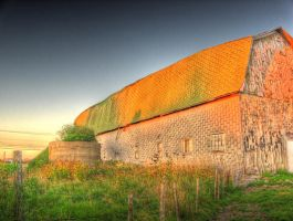 Old barn, sunset-washed, HDR by Lectrichead