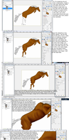 GIMP: Digital horse tutorial 1 by naomih91