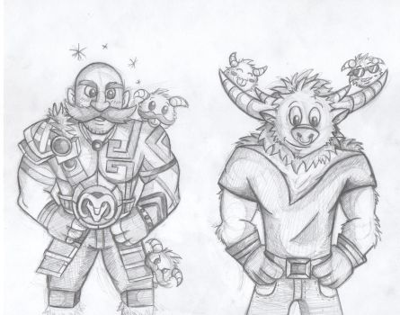 Braum and Alistar by theKatandtheBox