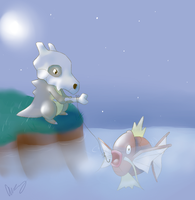 Cubone Fishing by MsKtty89