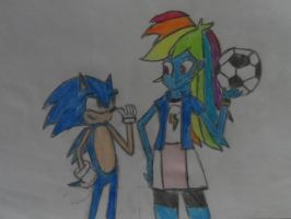 Sondash:LETS PLAY SOCCKER,RAINBOW DASH COLORED. by brandonale