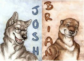 Badges: B and J by skrawl