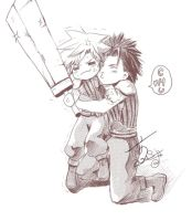 Zack X Cloud by Sasah1988