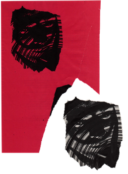 Face copy on/off red paper | PNG by mercurycode