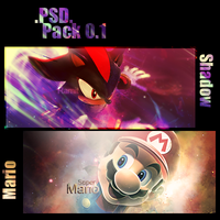 .PSD. Pack 0.1 - Mario+Shadow by N-95
