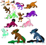 A Bunch of Free Adoptables (CLOSED) by DetritusDroid