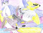 Pin up 11: Mia, Renamon and Rouge by ArtistOtaku91