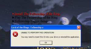 Error Lord of the Rings game by Darkanngel
