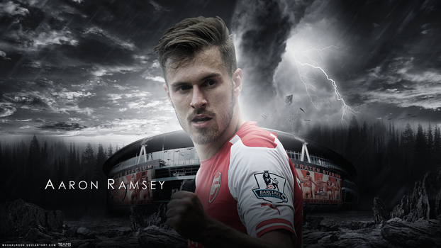 Aaron Ramsey Wallpaper by Mackalbrook