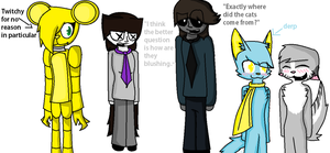The gang by TheSkyFursona