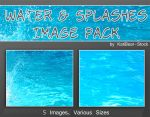 Water and Splashes Image Pack by Katibear-Stock