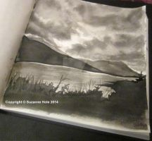 Day 26 Inktober - Kylemore Lough II, Galway by SuzanneHole